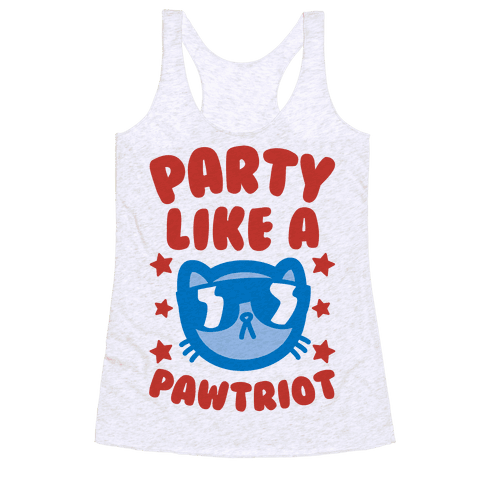 Party Like A Pawtriot Racerback Tank Top