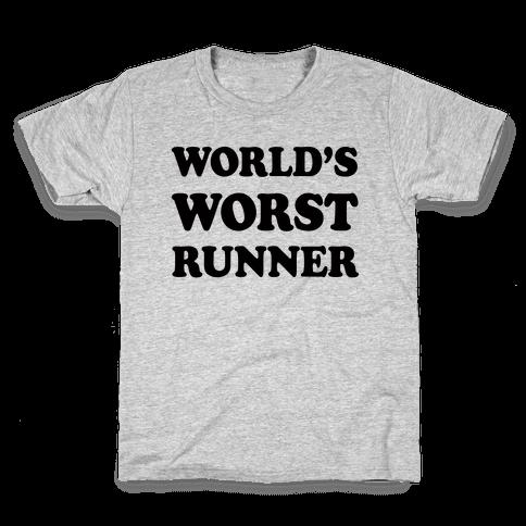 World's Worst Runner Kids T-Shirt