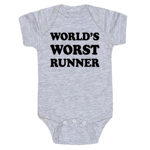 World's Worst Runner Baby Onesy