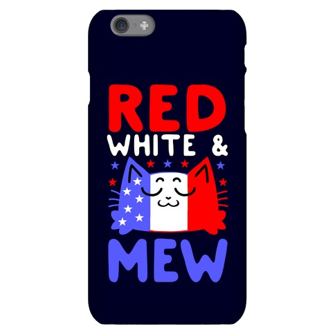 Red, White, And Mew Phone Case
