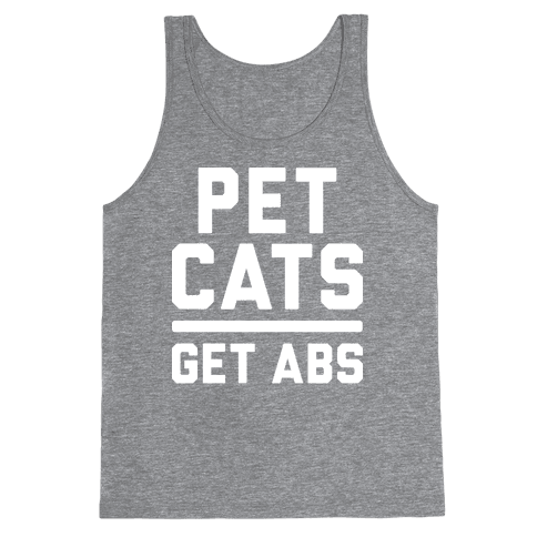 Pet Cats Get Abs (White) Tank Top