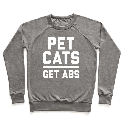 Pet Cats Get Abs (White) Pullover