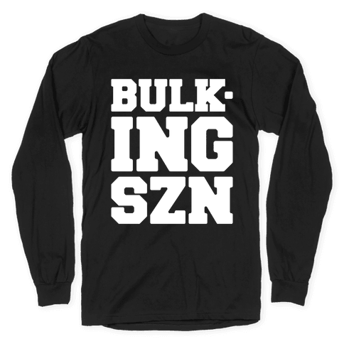 Bulking SZN White Print Long Sleeve T-Shirt