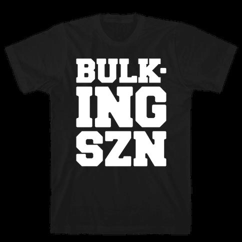 Bulking SZN White Print Mens/Unisex T-Shirt