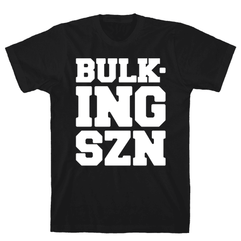 Bulking SZN White Print Mens/Unisex T-Shirt