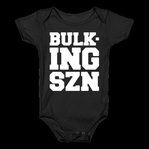 Bulking SZN White Print Baby Onesy