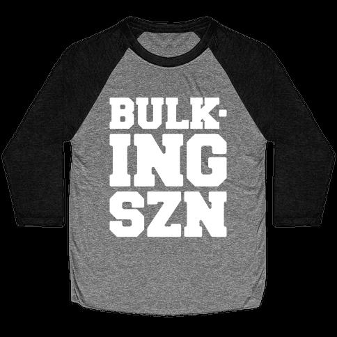 Bulking SZN White Print Baseball Tee