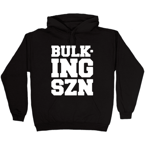 Bulking SZN White Print Hooded Sweatshirt
