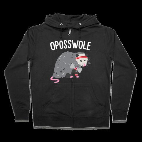 Oposswole Opossum Zip Hoodie
