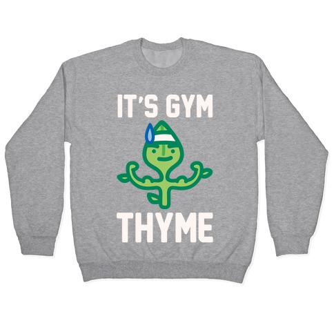 It's Gym Thyme White Print Pullover