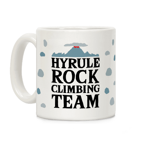 Hyrule Rock Climbing Team Coffee Mug