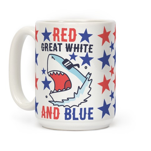 Red, Great White and Blue Coffee Mug