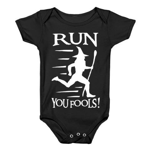 Run Your Fools Baby Onesy