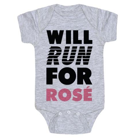 Will Run For Ros Baby Onesy