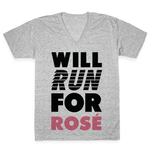 Will Run For Ros V-Neck Tee Shirt