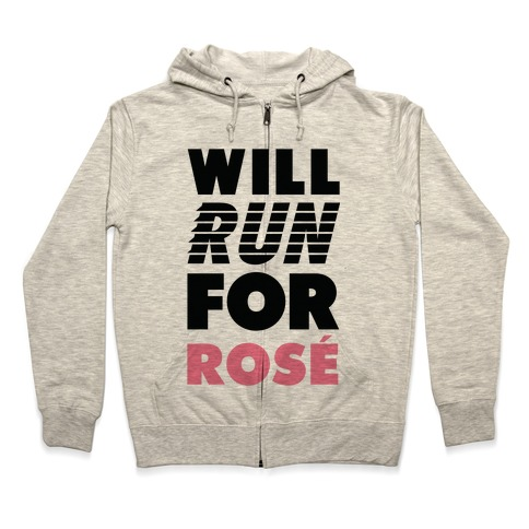 Will Run For Ros Zip Hoodie