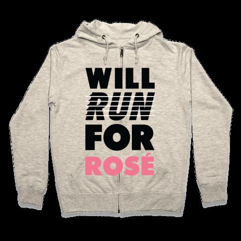 Will Run For Ros Zip Hoodie