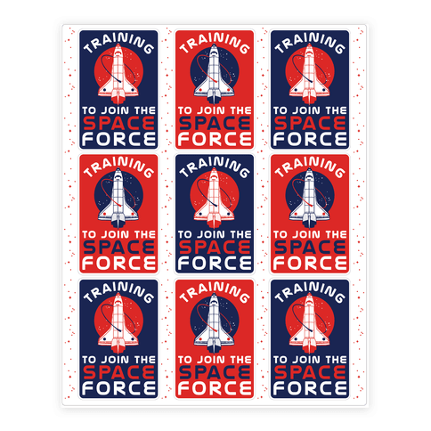 Training to Join the Space Force Stickers and Decal Sheet