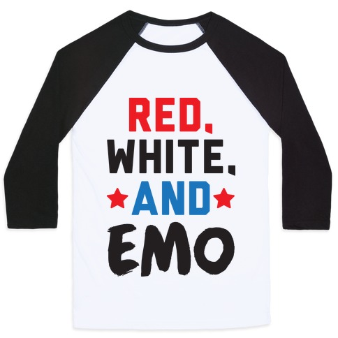 Red, White, And Emo Baseball Tee
