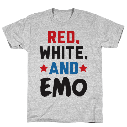 Red, White, And Emo Mens/Unisex T-Shirt