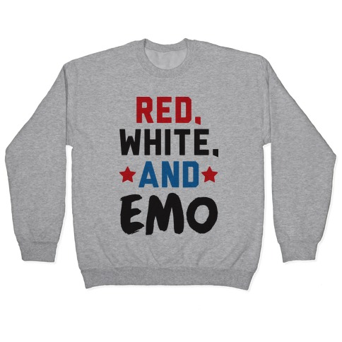 Red, White, And Emo Pullover