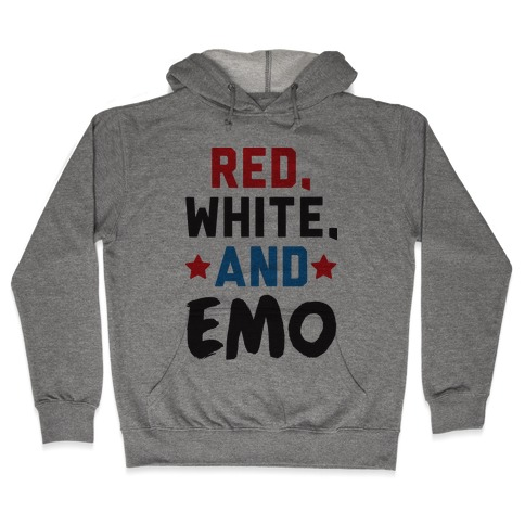 Red, White, And Emo Hooded Sweatshirt
