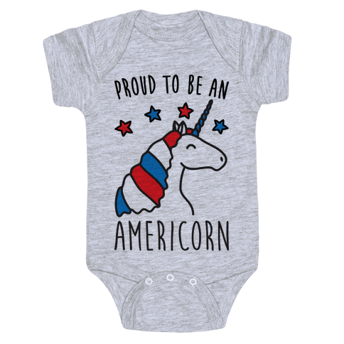 Proud To Be An Americorn Baby Onesy