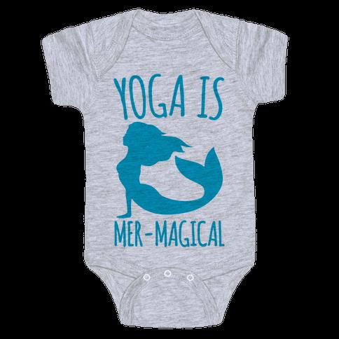 Yoga Is Mer-Magical Baby Onesy