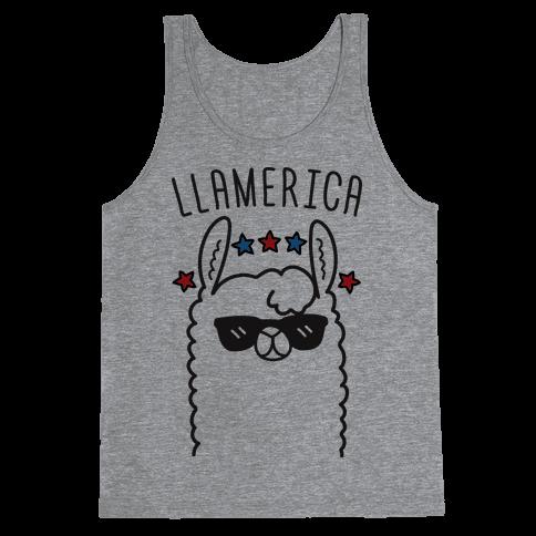 Llamerica American Llama Tank Top