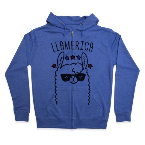 Llamerica American Llama Zip Hoodie