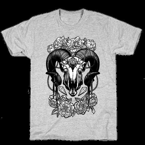 Flowery Ram Skull