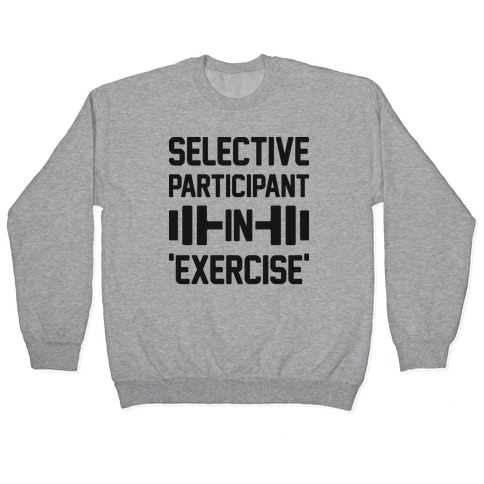 Selective Participant In Exercise Pullover