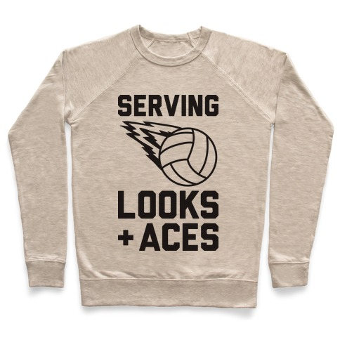 Serving Looks And Aces Volleyball Pullover