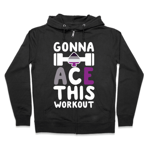 Gonna Ace This Workout Zip Hoodie