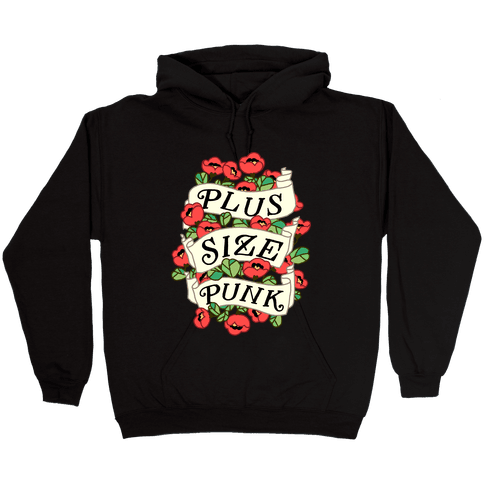 Plus Size Punk Hooded Sweatshirt