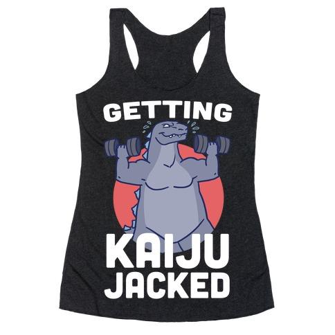 Getting Kaiju-Jacked Racerback Tank Top