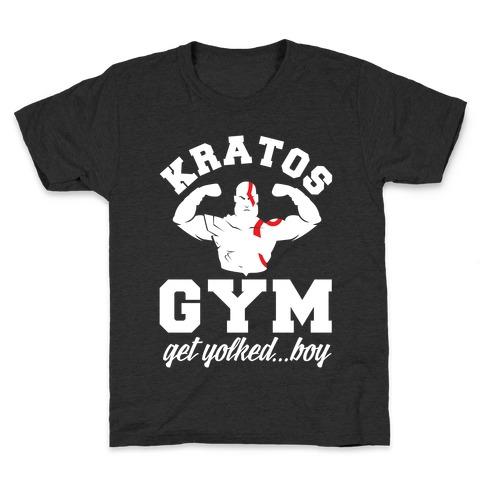 Kratos Gym Get Yolked Boy Kids T-Shirt