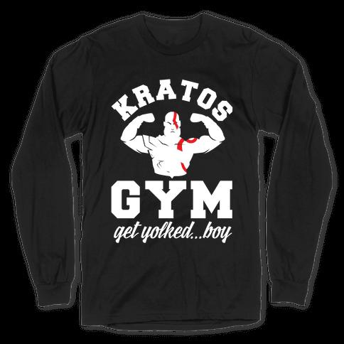 Kratos Gym Get Yolked Boy Long Sleeve T-Shirt