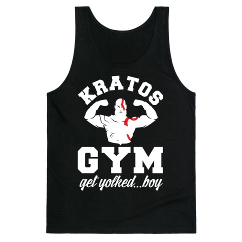 Kratos Gym Get Yolked Boy Tank Top