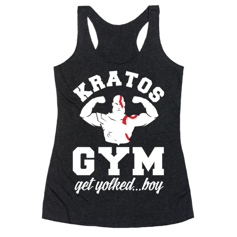 Kratos Gym Get Yolked Boy Racerback Tank Top