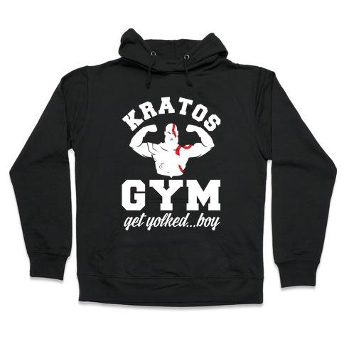 Kratos Gym Get Yolked Boy Hooded Sweatshirt