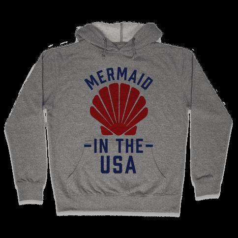 Mermaid In The USA Hooded Sweatshirt