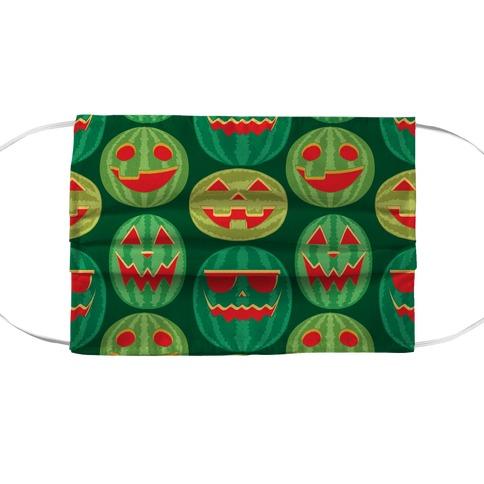 Green Pumpkin Face Mask Cover