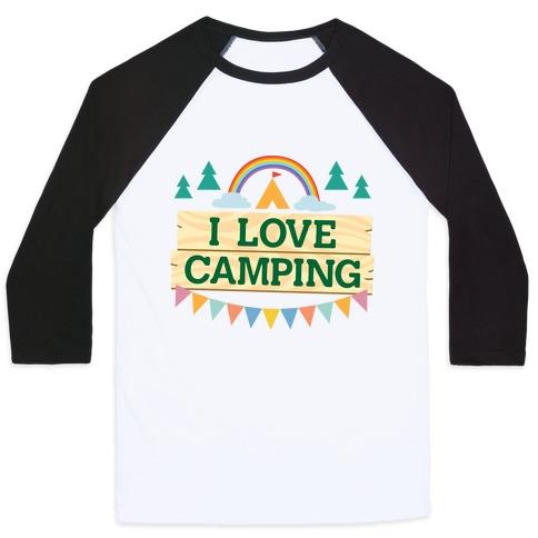 I Love Camping (Pocket Camp Parody) Baseball Tee