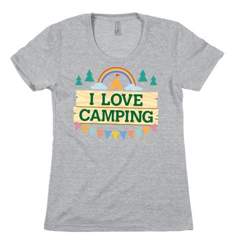 I Love Camping (Pocket Camp Parody) Womens T-Shirt
