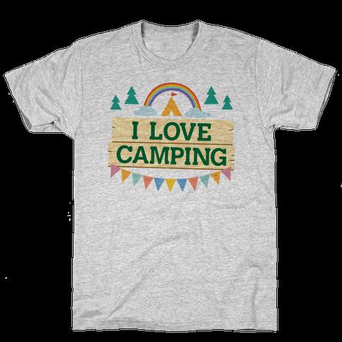 I Love Camping (Pocket Camp Parody) Mens T-Shirt