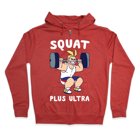 Squat Plus Ultra - All Might Zip Hoodie