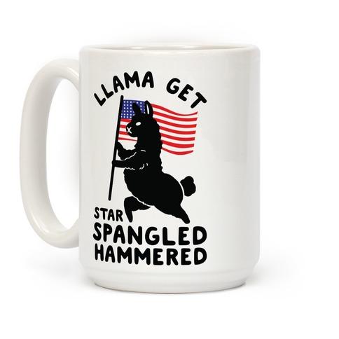Llama Get Star Spangled Hammered Coffee Mug