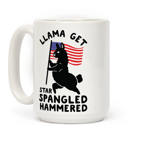 Llama Get Star Spangled Hammered Coffee Mug