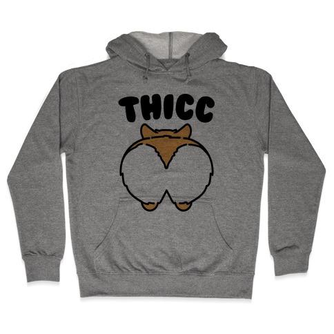 Thicc Corgi Butt Parody Hooded Sweatshirt